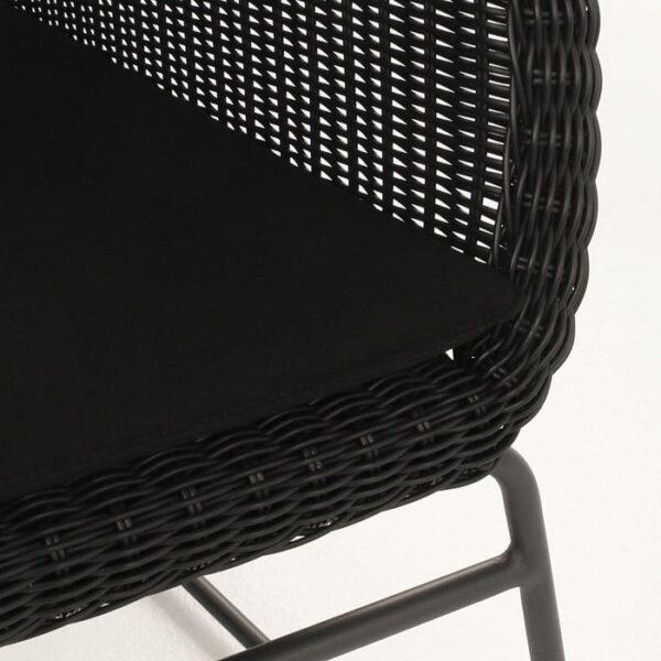 black wicker chair closeup image