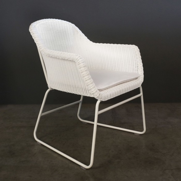 Harbour Wicker Dining Chair (White)-0