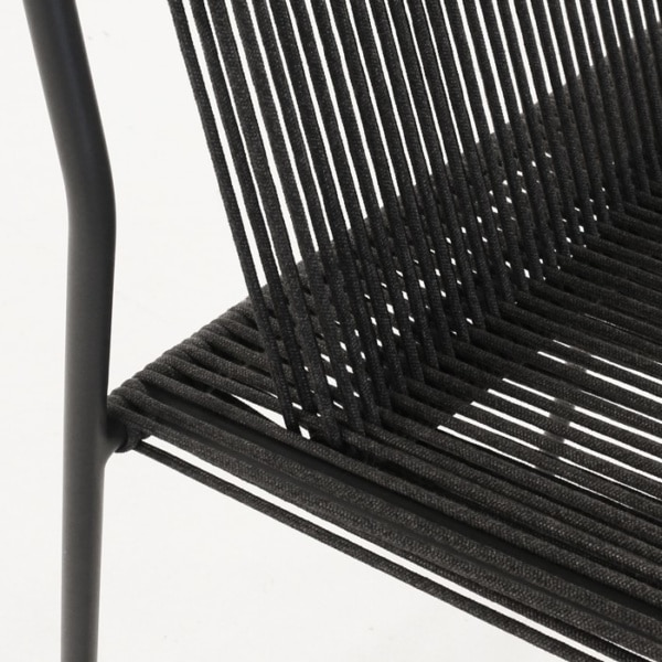 woven rope chair closeup photo