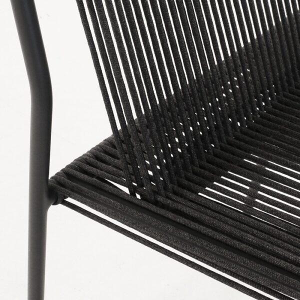 woven rope chair closeup photo