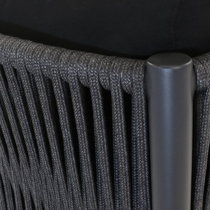 Luna Rope Outdoor Relaxing Chair Teak Warehouse