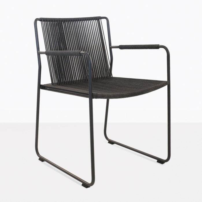 Nero Rope Outdoor Dining Arm Chair-0