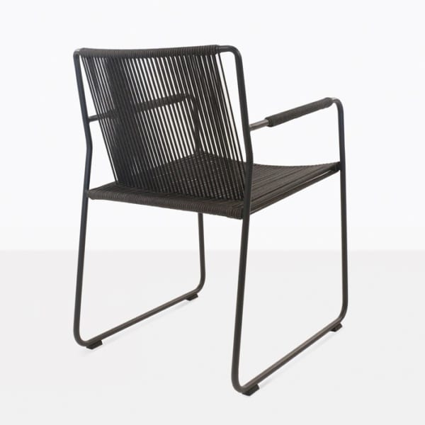 rope outdoor dining chair back view