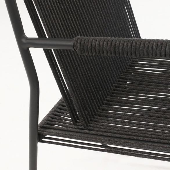 black rope chair closeup image