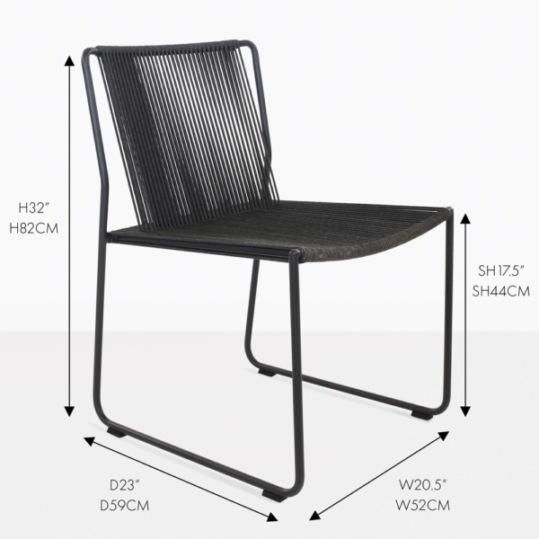 Nero Rope Outdoor Dining Side Chair