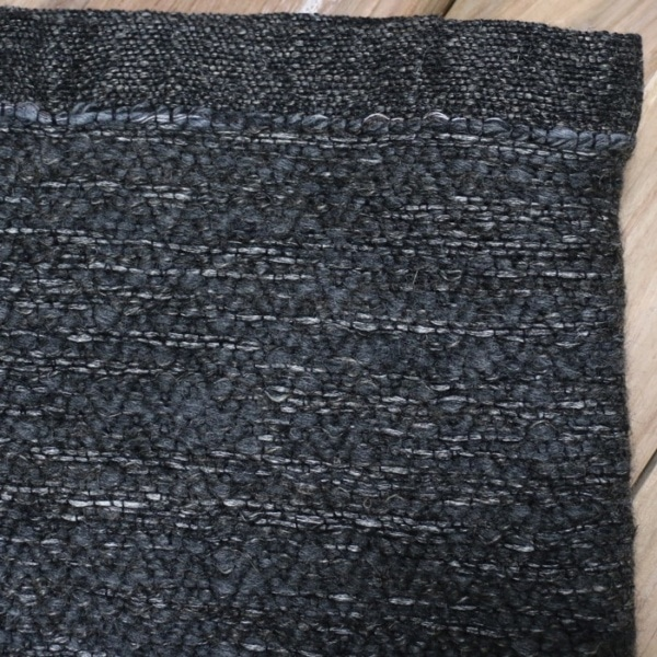 wool and linen throw closeup image