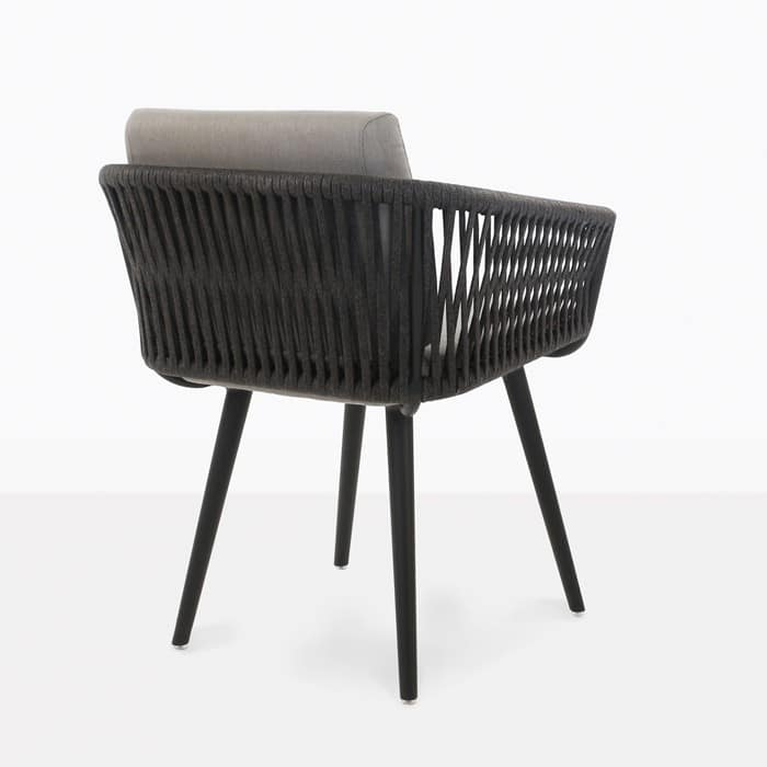 Rope Outdoor Dining Chair Black Teak Warehouse
