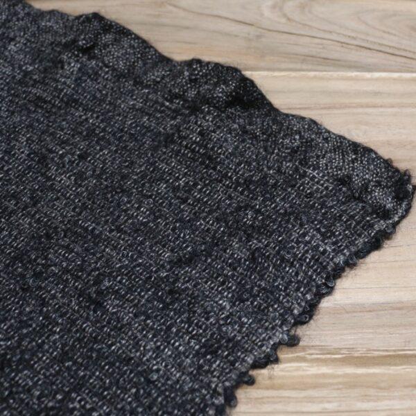 hand woven wool throw closeup image