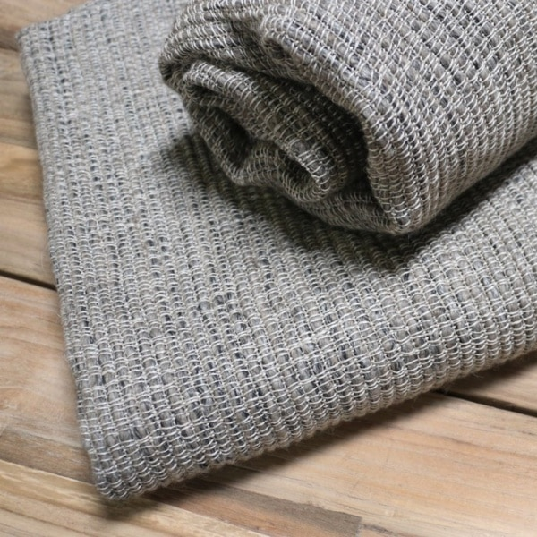 handwoven linen and wool throw