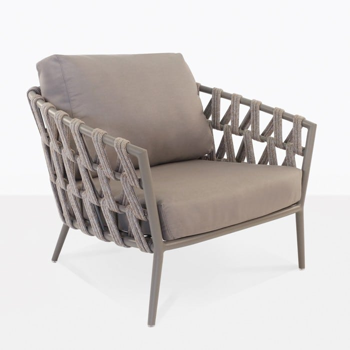 Wellington rope outdoor club chair teak warehouse for Outdoor furniture wellington