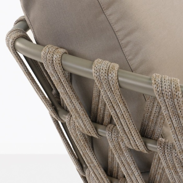 Wellington Rope Outdoor Club Chair Teak Warehouse