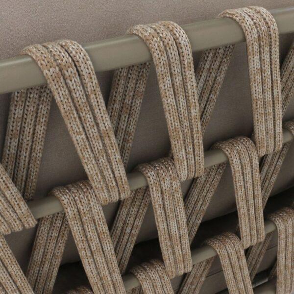 Wellington Rope Outdoor Sofa closeup pic2