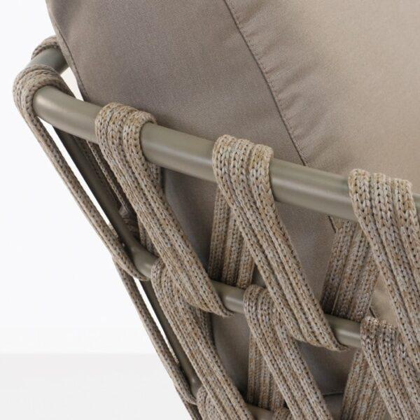 Wellington Rope Outdoor Sofa closeup pic