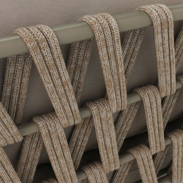Wellington Rope Outdoor Sofa close up pic
