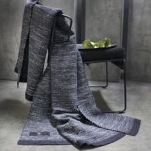 Winter Heart Black Suede Throw-0