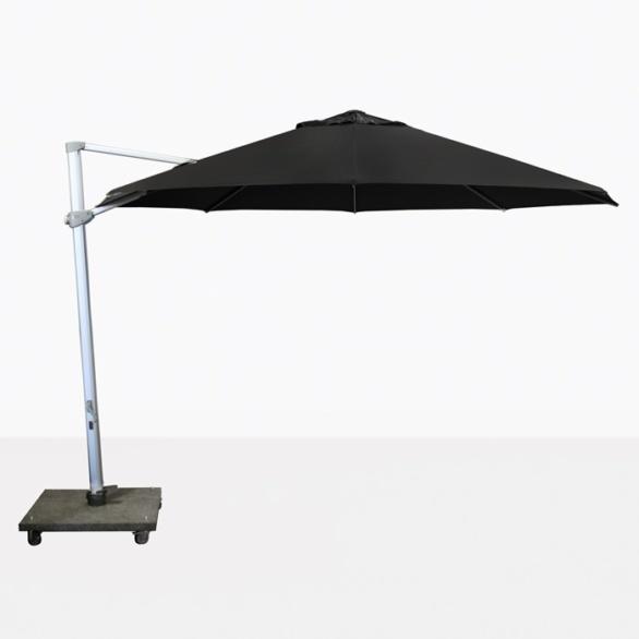 """Antigua 11'6"""" Round Cantilever Umbrella (Black)-0"""