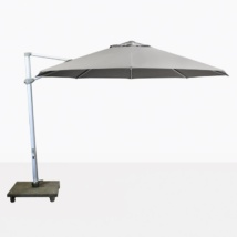 "Antigua 11'6"" Round Cantilever Umbrella (Grey)-0"