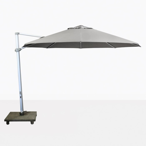 "Antigua 11'6"" Round Cantilever Umbrella (Grey)-0"