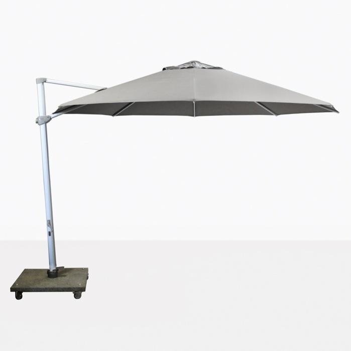 Antigua 11 6 Round Cantilever Umbrella Grey Teak Warehouse
