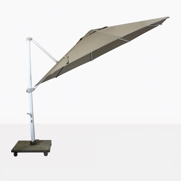 taupe cantilever umbrella