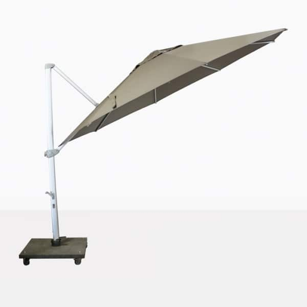 taupe cantilever umbrella