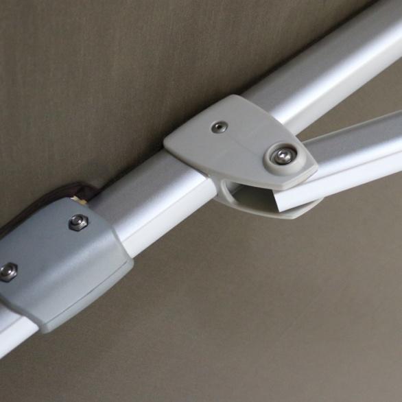 closeup image of cantilever umbrella