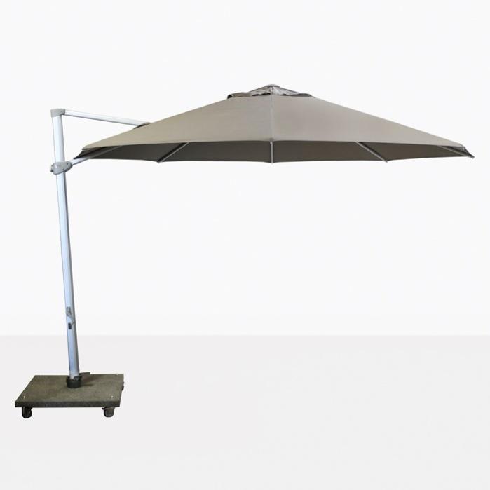 """Antigua 11'6"""" Round Cantilever Umbrella (Taupe)-0"""