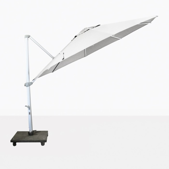 cantilever umbrella in white