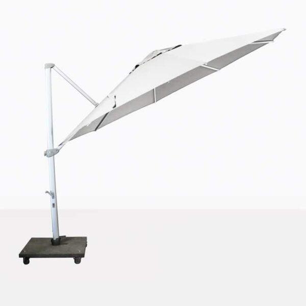 cantilever umbrella in white
