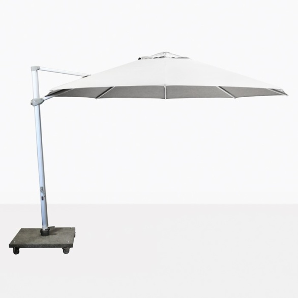 "Antigua 11'6"" Round Cantilever Umbrella (White)-0"