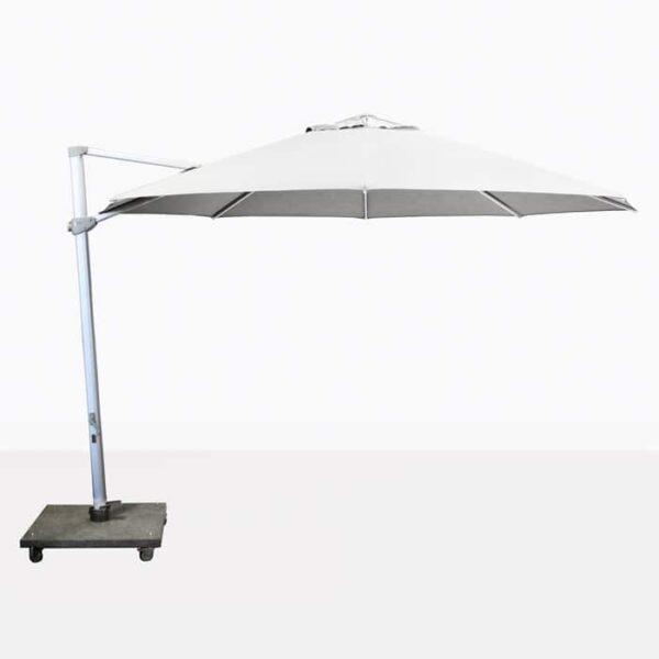 "Antigua 11'6"" Round Cantilever Umbrella (White)-0"