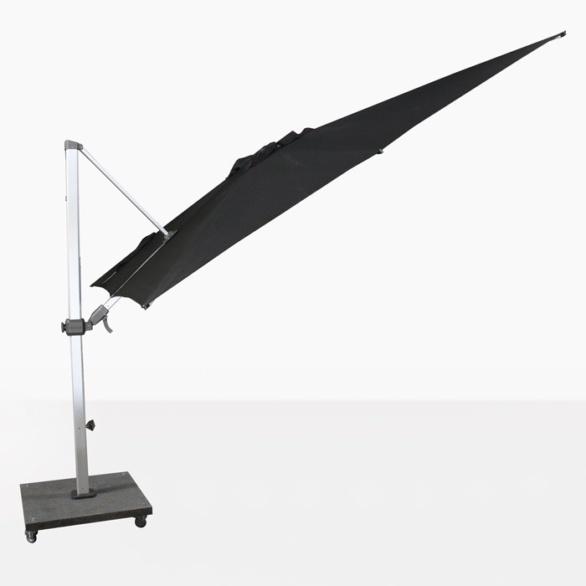 tilting cantilever umbrella in black