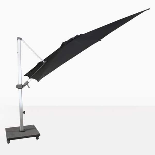 tilting cantilever umbrella in black