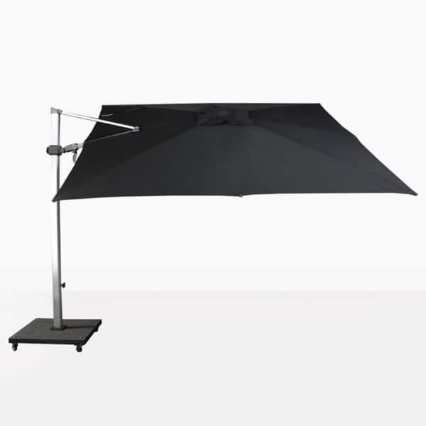 square cantilever umbrella in black