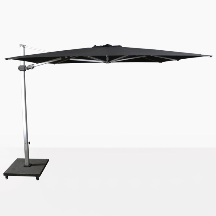 Caribbean 10ft Square Cantilever Umbrella (Black)-0