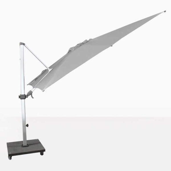 cantilever umbrella in tilt position