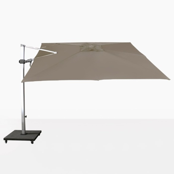square tilting cantilever umbrella