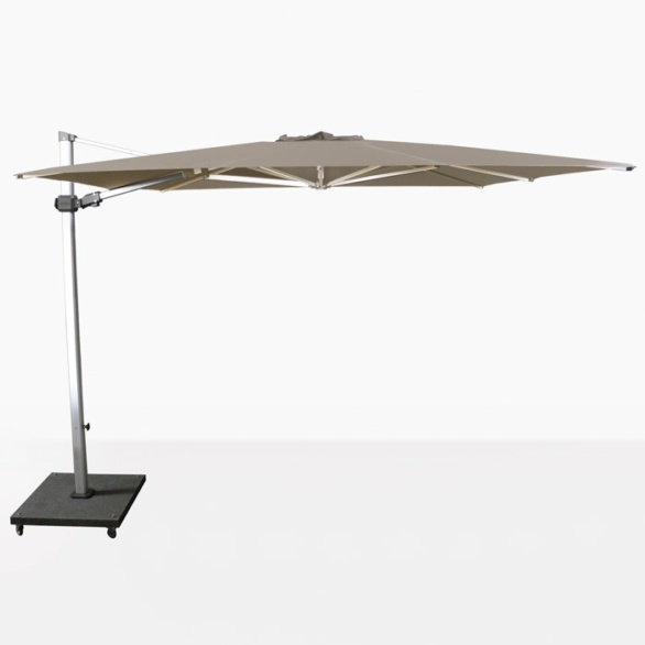 Caribbean 10ft Square Cantilever Umbrella (Taupe)-0