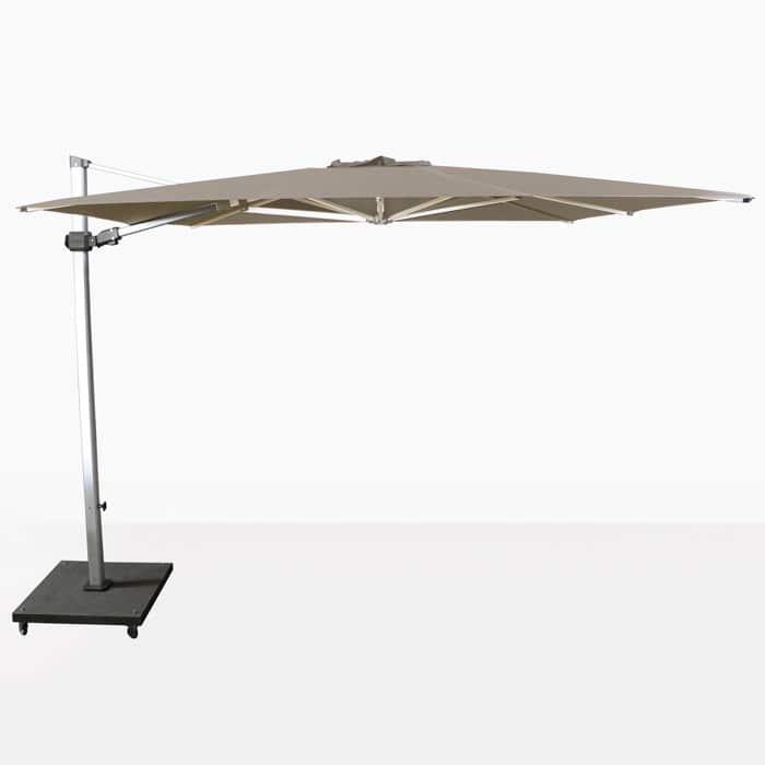 Caribbean 10ft Square Cantilever Umbrella (Taupe)