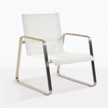Summer Low Lounge Chair With Mesh Seat