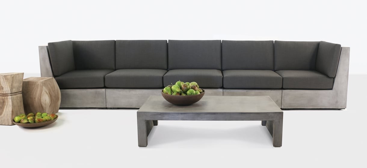 Box Concrete Outdoor Furniture Sectional Sofa