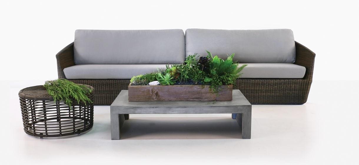Brooklyn Outdoor Wicker Sofa in Brown