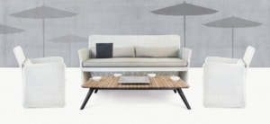 Cube Wicker Sofa and Relaxing Chairs