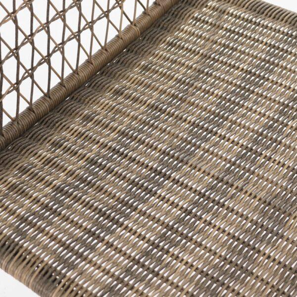 Edge Brown Wicker Dining Chair Closeup