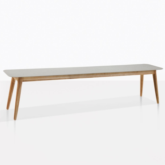 Edition Teak And Aluminum Backless Bench