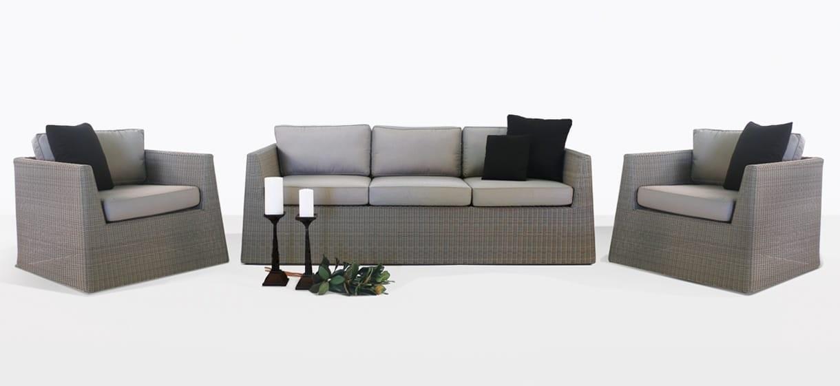 Giorgio Wicker Patio Sofa and Club Chair