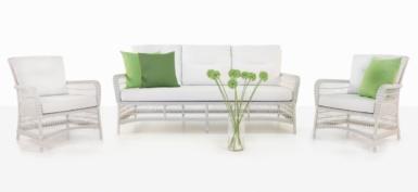 Hampton White Wicker Patio Furniture