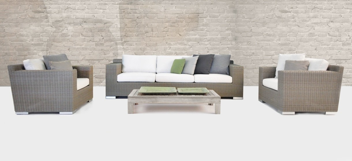 Henry Wicker Patio Sofa and Chairs