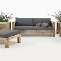 Lodge Reclaimed Teak Outdoor Seating Collection