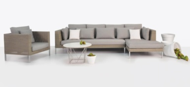 Madison Wicker Chaise Sofa Combo